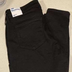 Black Old Navy Rockstar Super Skinny